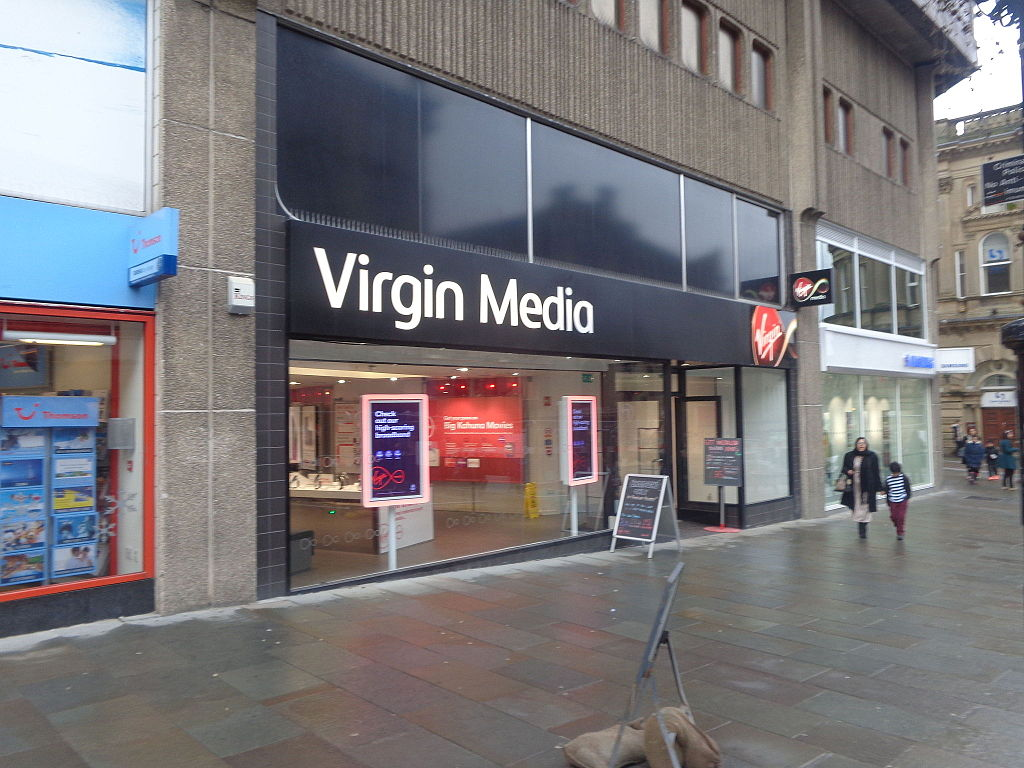 Virgin store showing offers